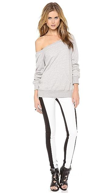 3x1 Wrap Zip Skinny Jeans