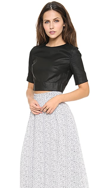 3x1 Coated Crop Top