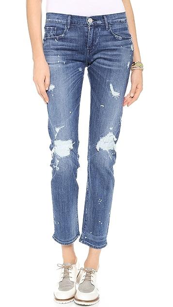 3x1 Distressed Boyfriend Jeans
