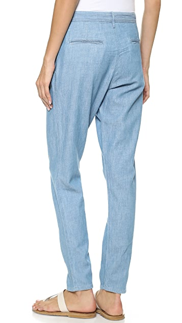 3x1 Berto Mid Rise Pleated Slouchy Jeans