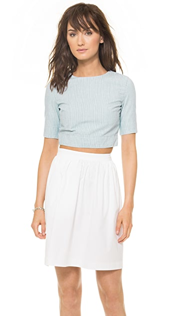 3x1 Railroad Stripe Crop Top