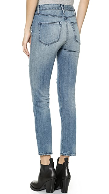 3x1 W3 High Rise Straight Leg Cropped Jeans