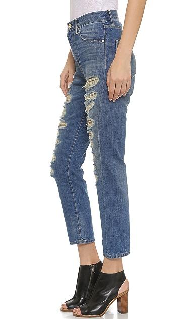3x1 W4 High Rise Cropped Boyfriend Jeans