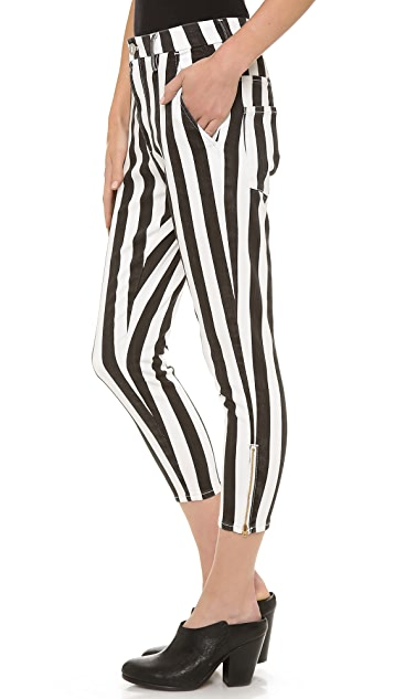 THVM Behati Stripe Zip Trousers