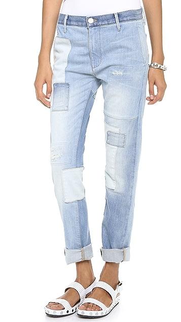 THVM Behati Colorblock Boyfriend Jeans
