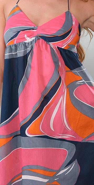 Tibi Poolside Splash Halter Cover-Up Dress