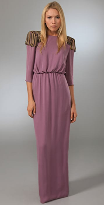 Tibi Nile Beaded Long Dress