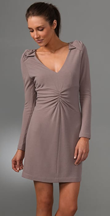 Tibi Fitted Long Sleeve Dress
