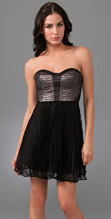 Tibi Bond St. Strapless Dress