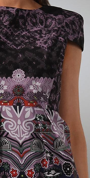 Tibi Chantilly Cap Sleeve Dress