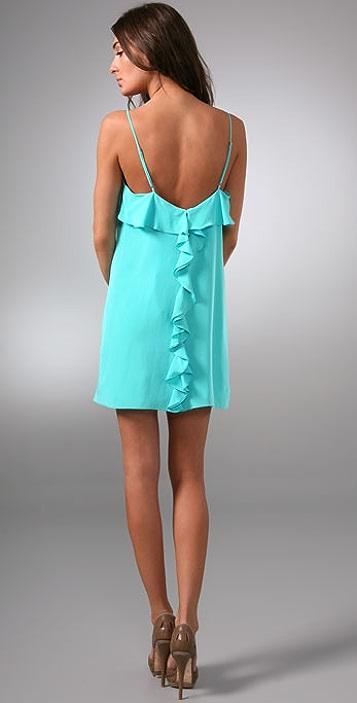 Tibi Ruffle Back Cami Dress