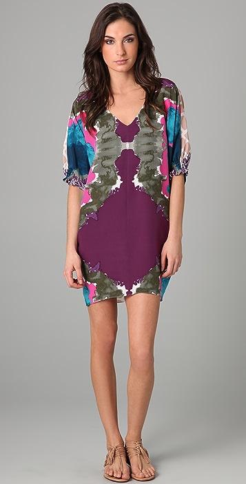Tibi Calla Lily V Neck Dress
