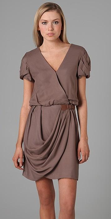 Tibi Angle Draped Dress