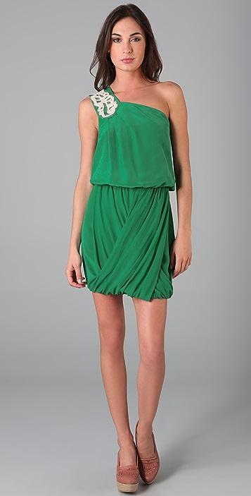 Tibi Farrah One Shoulder Dress