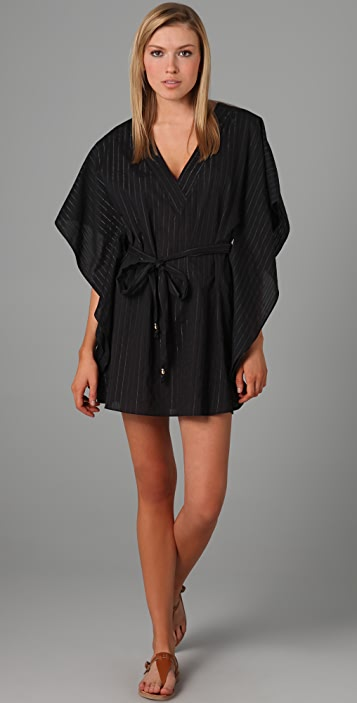 Tibi Dobby Caftan Cover Up Dress