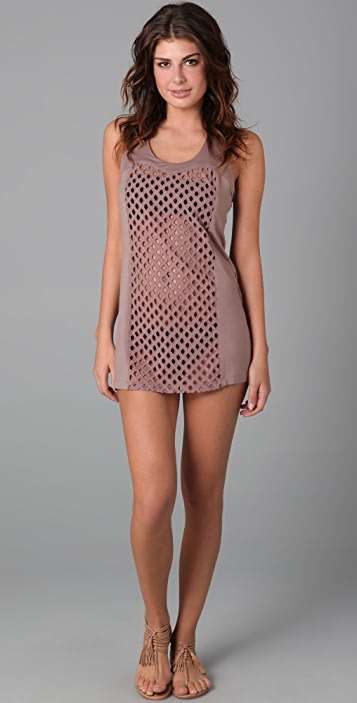 Tibi Eyelet Tank Cover Up Dress