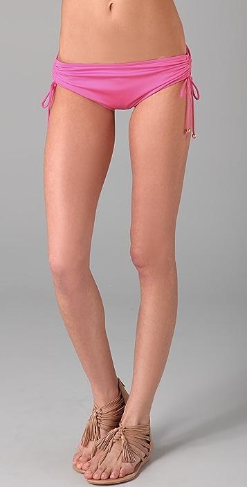 Tibi Drawstring Boy Short Bikini Bottoms
