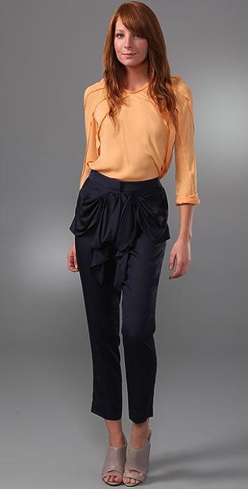 Tibi Draped Bow Pants