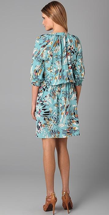 Tibi Long Sleeve Print Dress