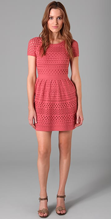 Tibi Crochet Dress