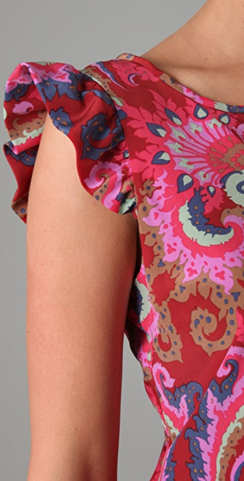 Tibi Isabella Print Shift Dress