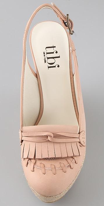 Tibi Kiltie Platform Heels