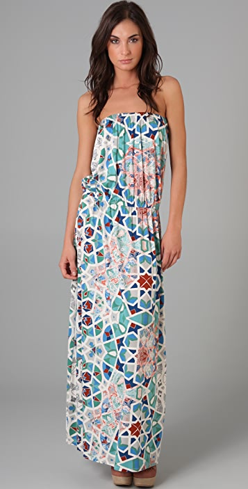 Tibi Tile Mosaic Long Dress