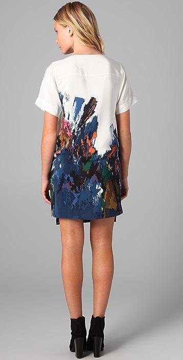 Tibi Aurora Print Shift Dress