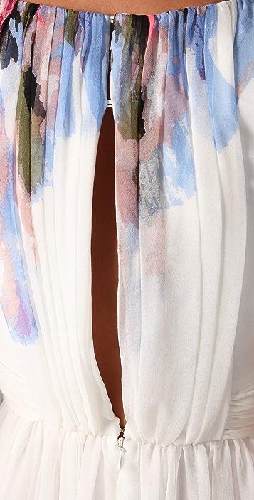Tibi Aurora Print Sleeveless Dress