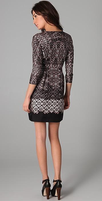 Tibi 3/4 Sleeve Shift Dress