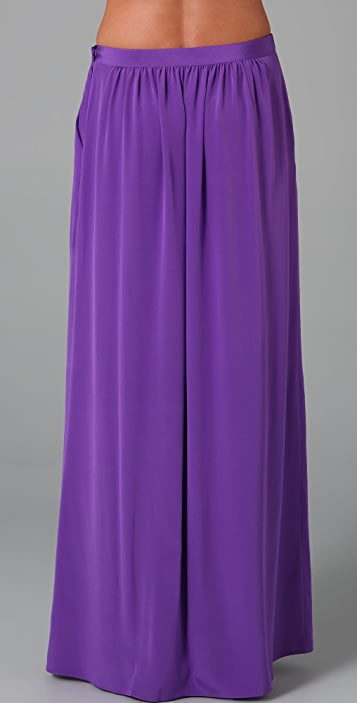 Tibi Long Pleated Skirt