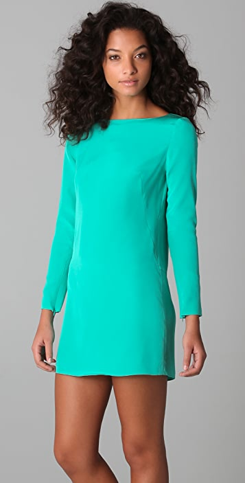 Tibi Long Sleeve Shift Dress