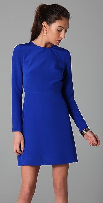 Tibi Long Sleeve Dress with Cutout Back