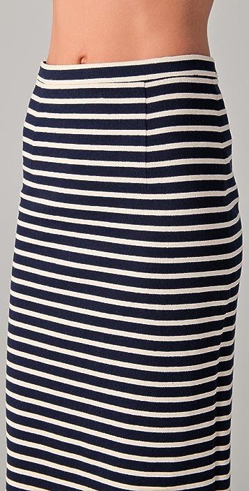 Tibi Horatio Striped Pencil Skirt