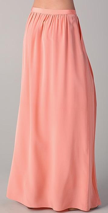 Tibi Maxi Pleated Skirt