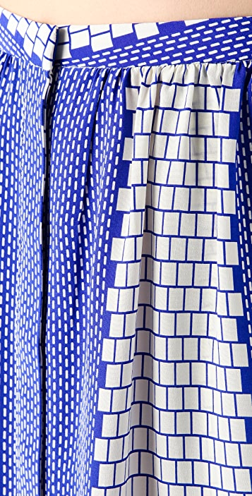 Tibi Tile Printed Skirt