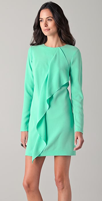 Tibi Draped Shift Dress