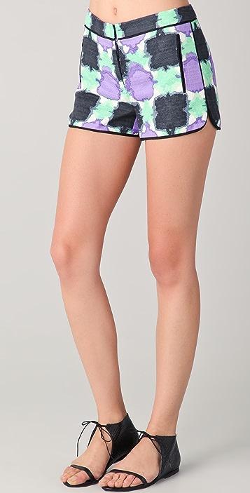 Tibi Gemma Print Shorts