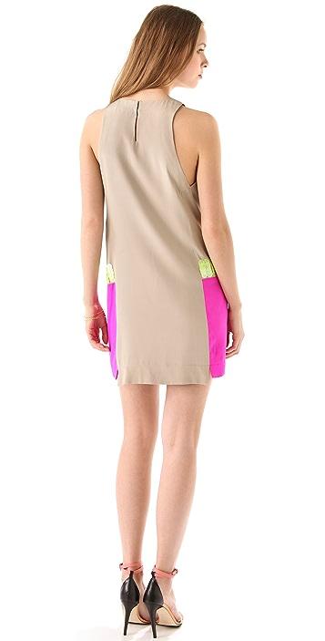 Tibi Adler Sequin Sleeveless Dress