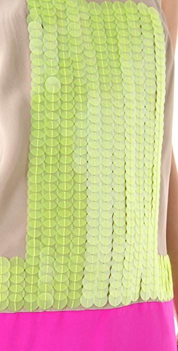 Tibi Adler Sequin Sleeveless Dress