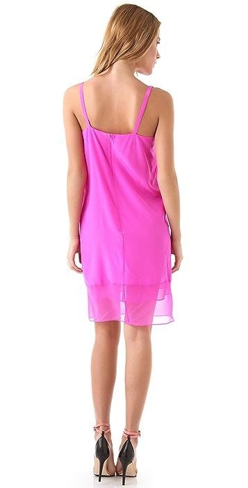 Tibi Hannah V Neck Dress