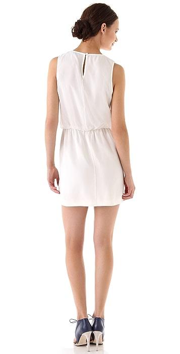 Tibi Pyramid Embroidery Sleeveless Dress