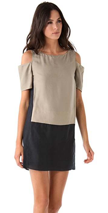 Tibi Featherweight Sandwashed Easy Dress