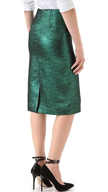 Tibi Lurex Pencil Skirt