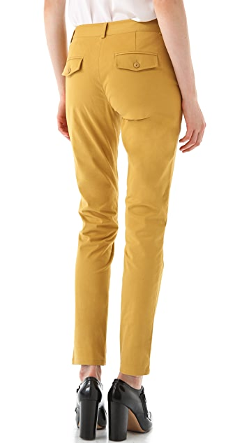 Tibi Sateen Easy Slouch Pants