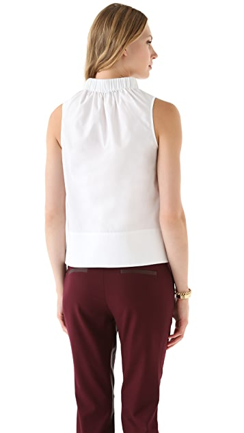 Tibi Cotton Elastic Top