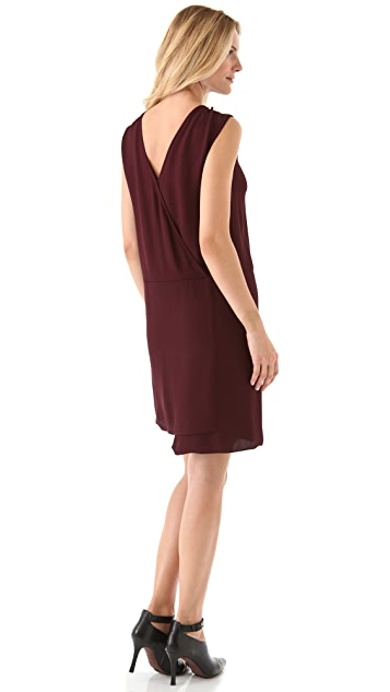 Tibi Draped V Back Dress