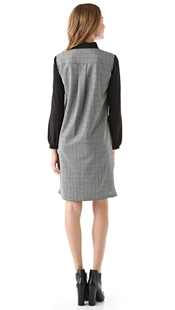 Tibi Glen Plaid Shirtdress