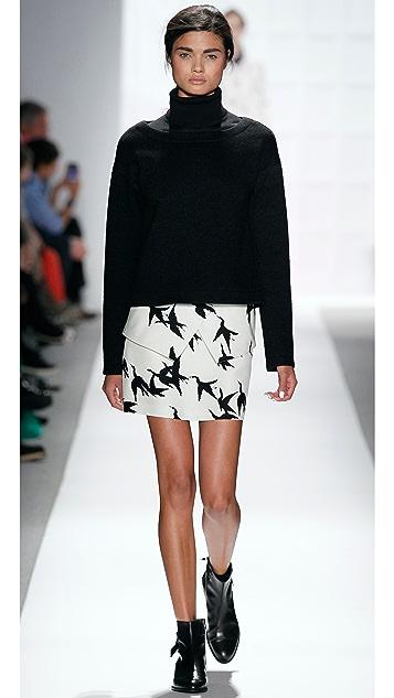 Tibi Paloma Print Peplum Skirt