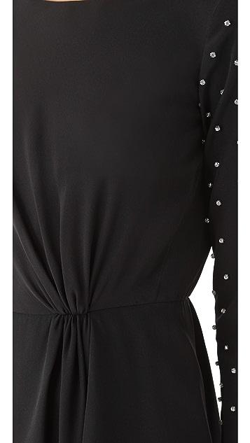 Tibi Draped Dress with Studs